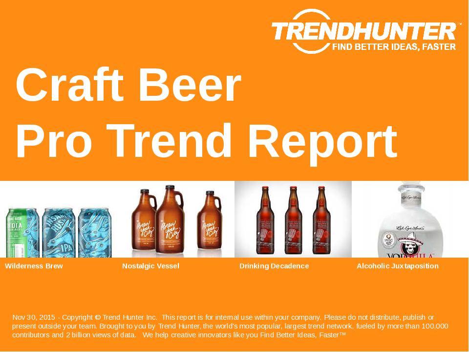 Craft Beer Trend Report Research