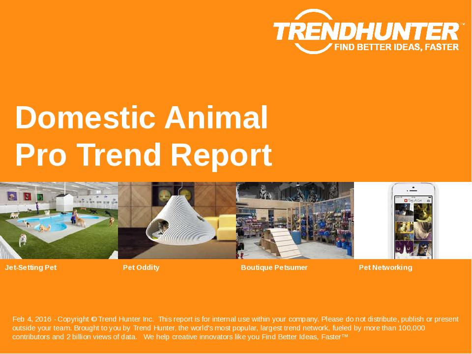 Domestic Animal Trend Report Research