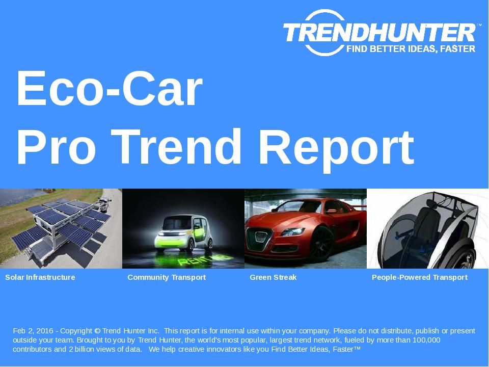 Eco-Car Trend Report Research