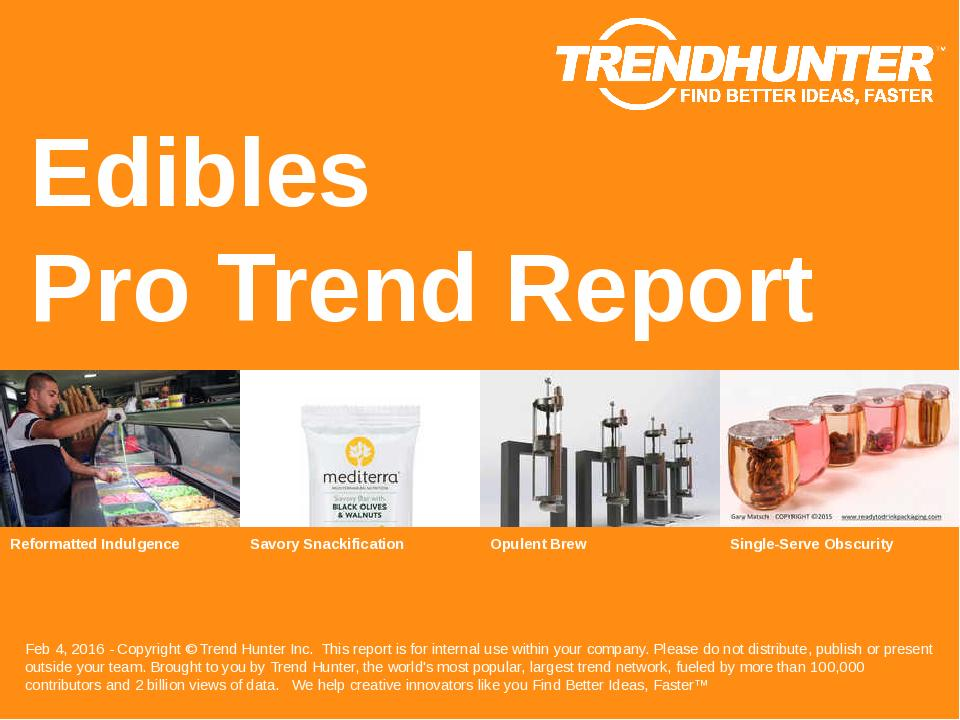 Edibles Trend Report Research