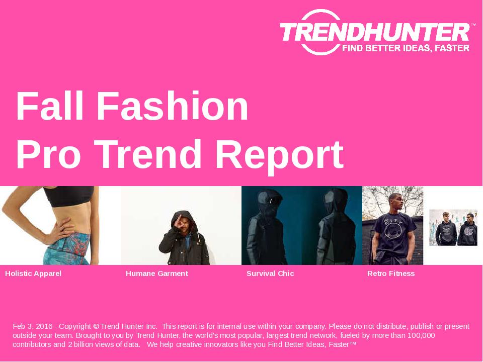 Fall Fashion Trend Report Research