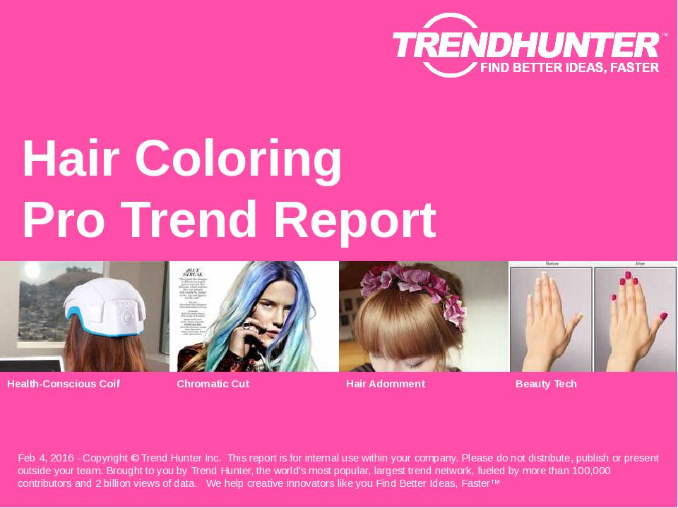 Hair Coloring Trend Report Research