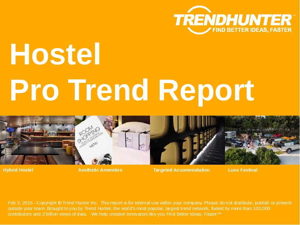 Hostel Trend Report Research