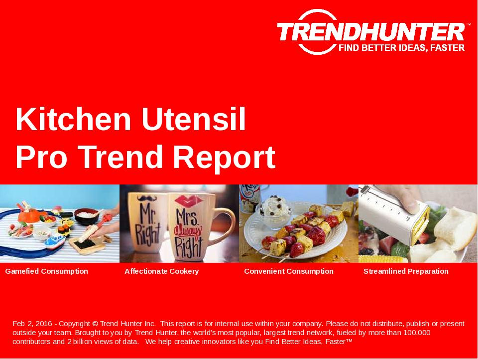 Kitchen Utensil Trend Report Research