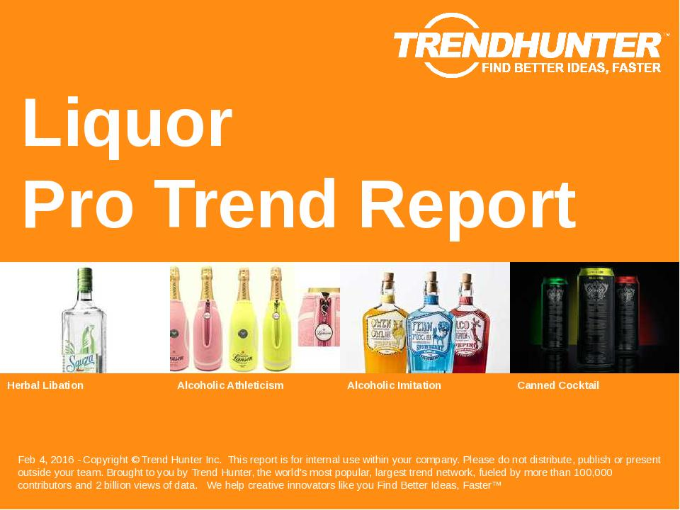Liquor Trend Report Research