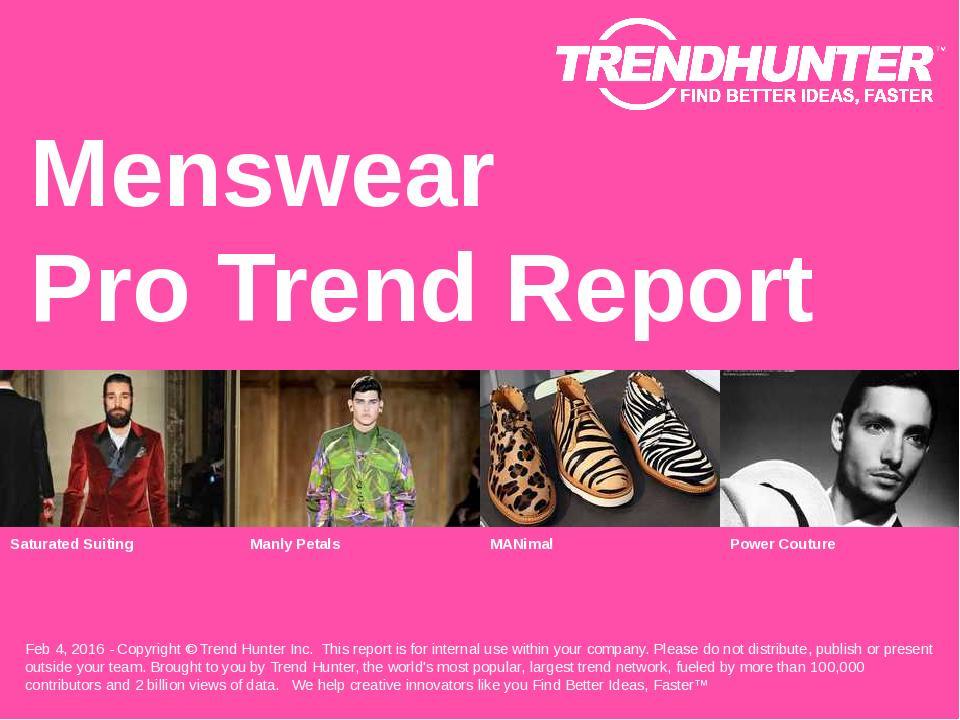 Menswear Trend Report Research