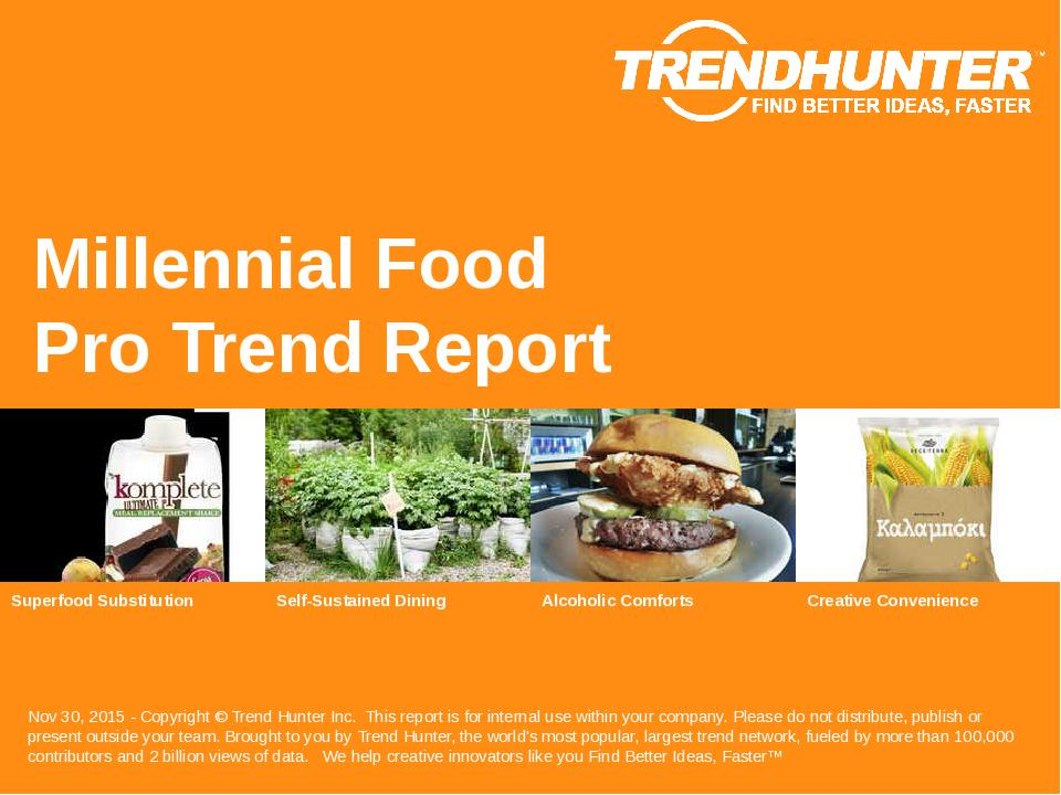 Millennial Food Trend Report Research