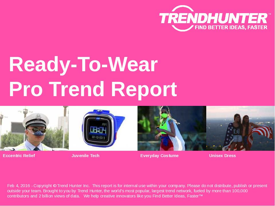 Ready-To-Wear Trend Report Research