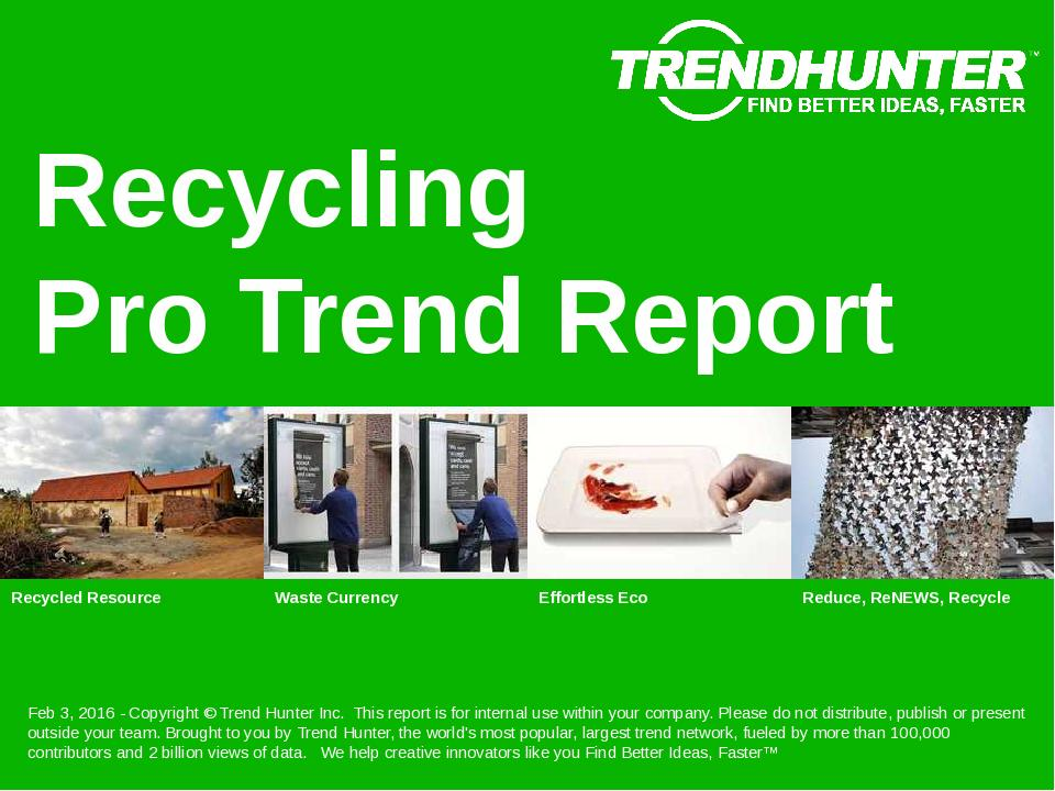 Recycling Trend Report Research