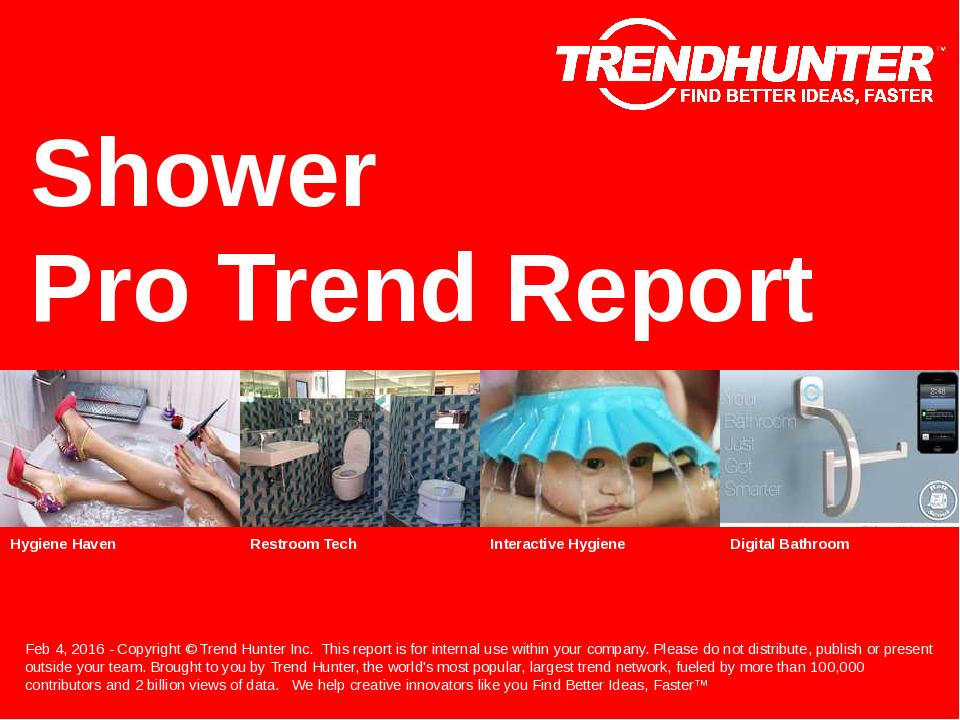 Shower Trend Report Research