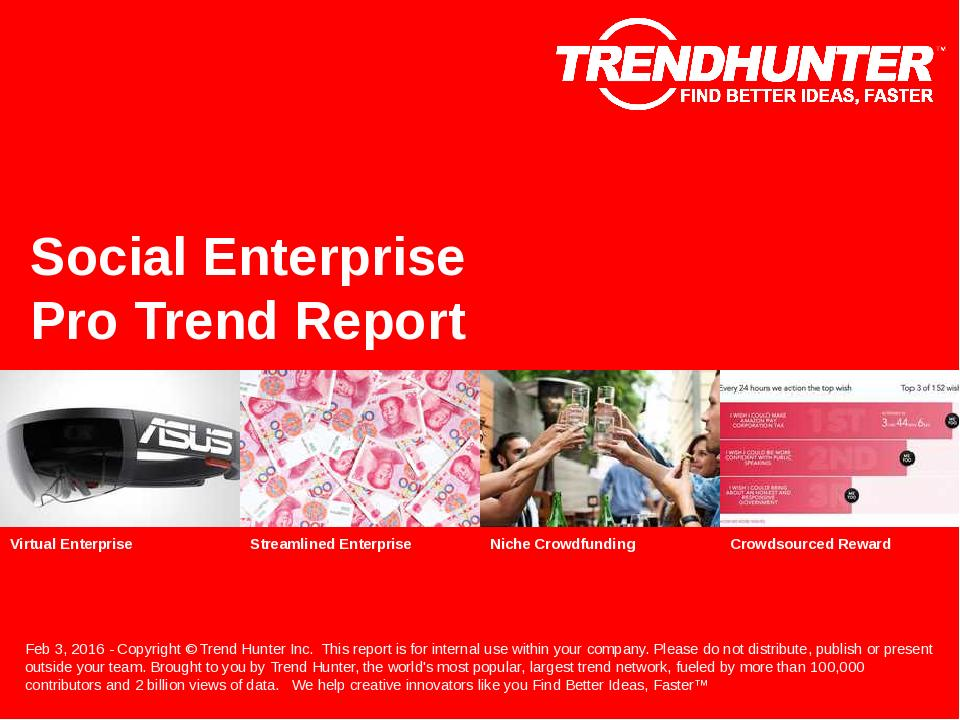 Social Enterprise Trend Report Research