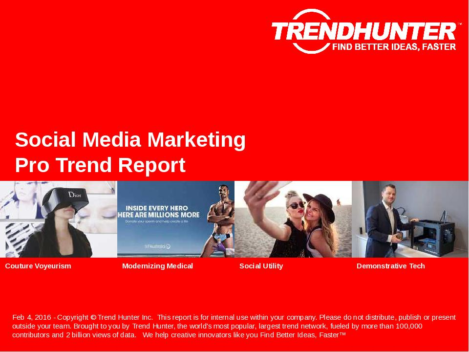 Social Media Marketing Trend Report Research