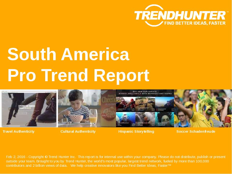 South America Trend Report Research