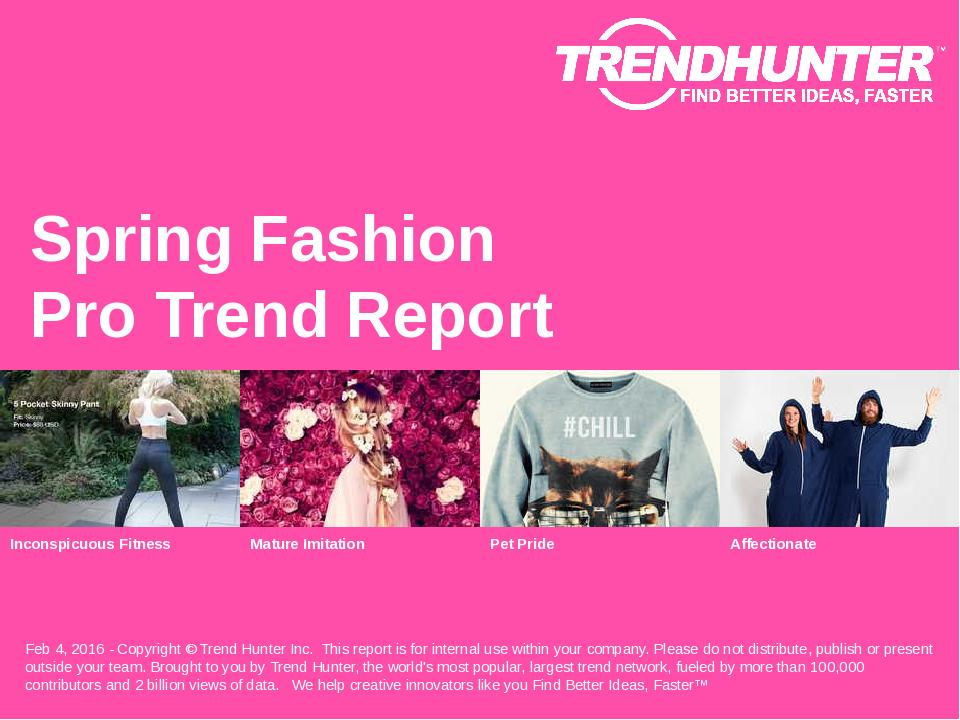 Spring Fashion Trend Report Research