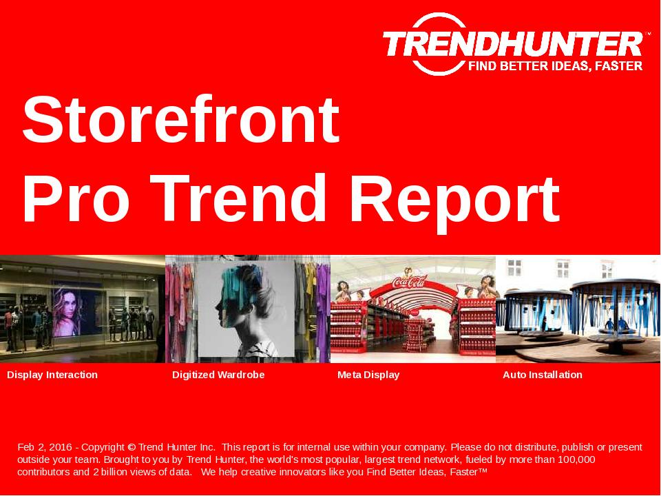 Storefront Trend Report Research