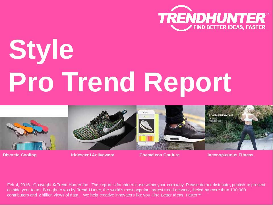 Style Trend Report Research