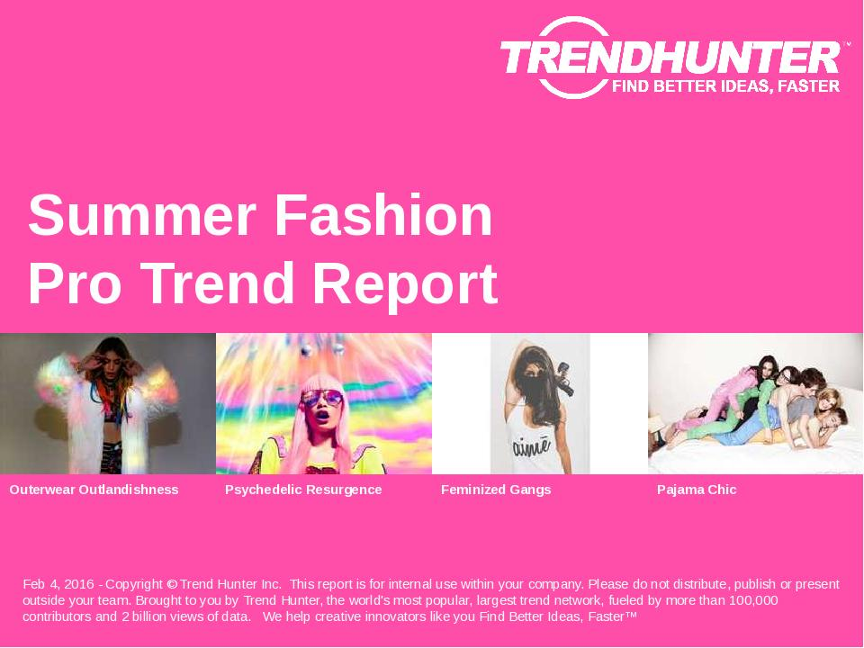 Summer Fashion Trend Report Research