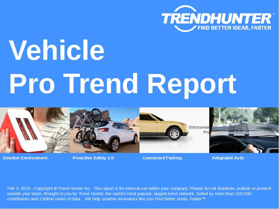Vehicle Trend Report Research