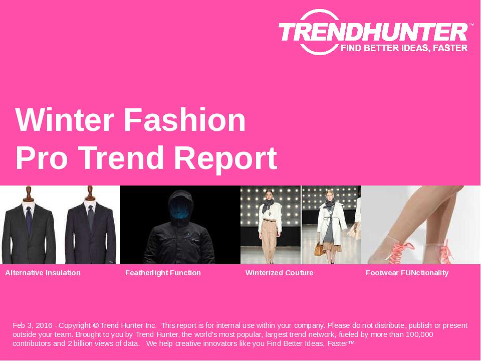 Winter Fashion Trend Report Research