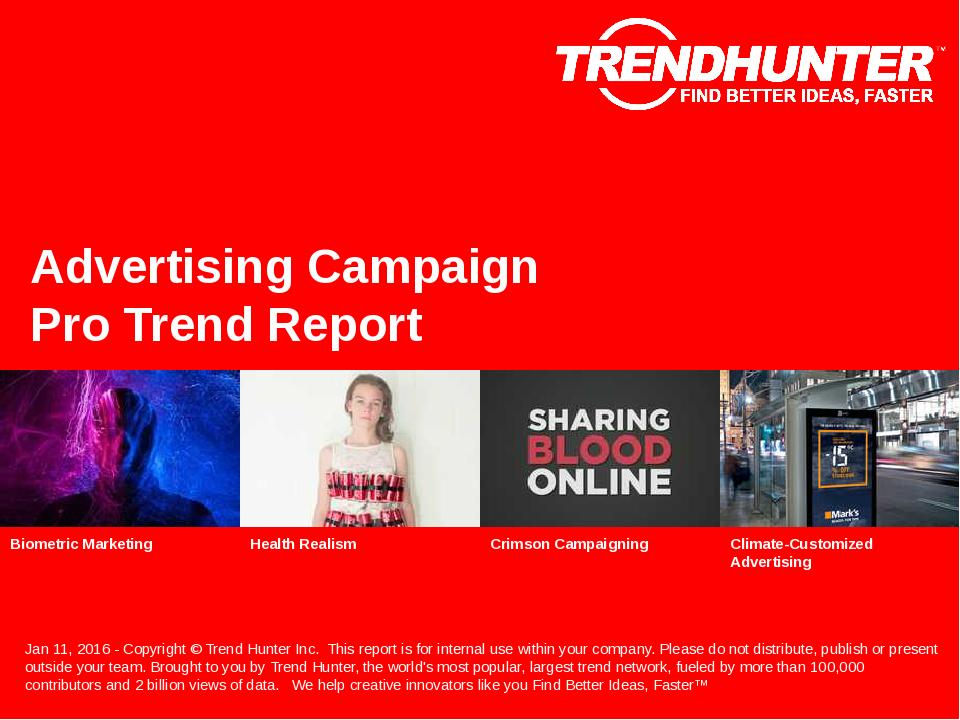 Advertising Campaign Trend Report Research