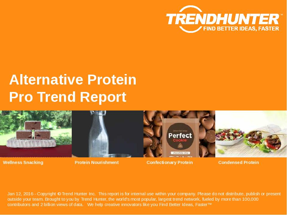 Alternative Protein Trend Report Research