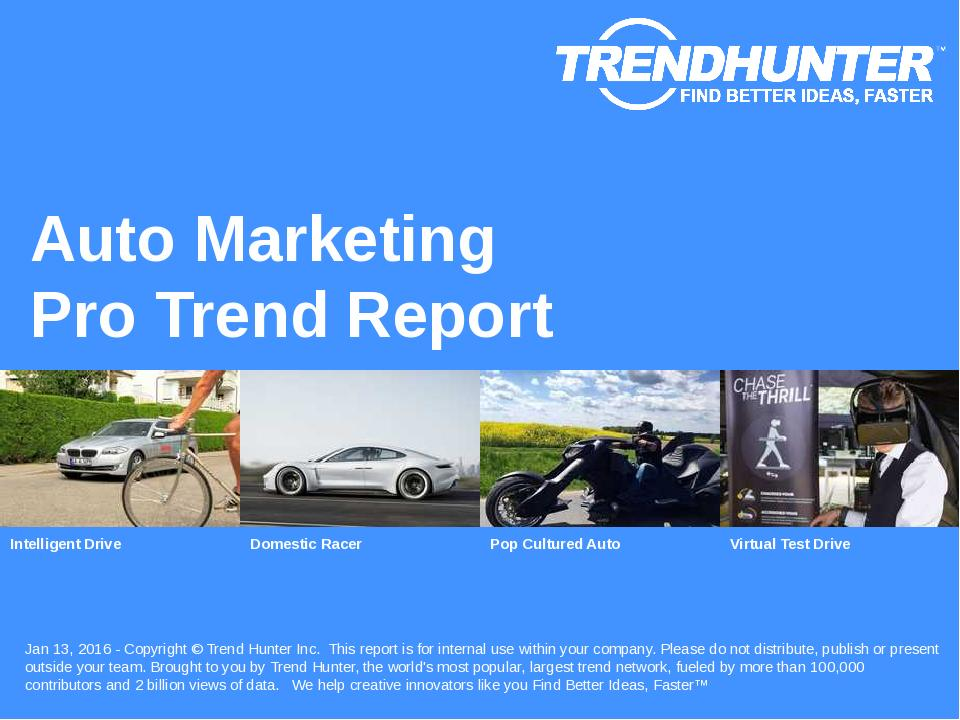 Auto Marketing Trend Report Research