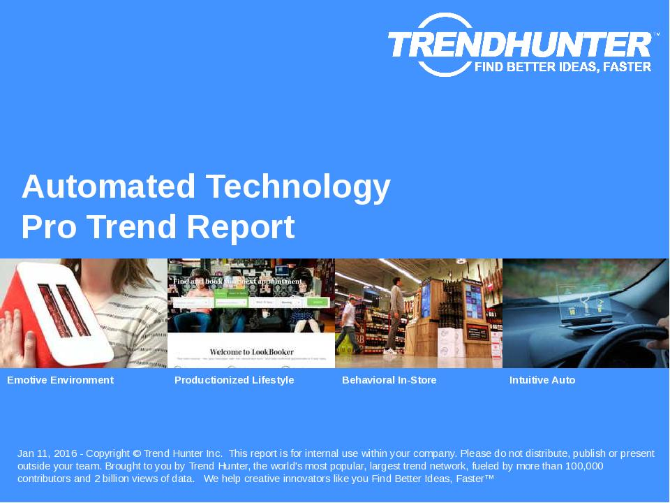 Automated Technology Trend Report Research