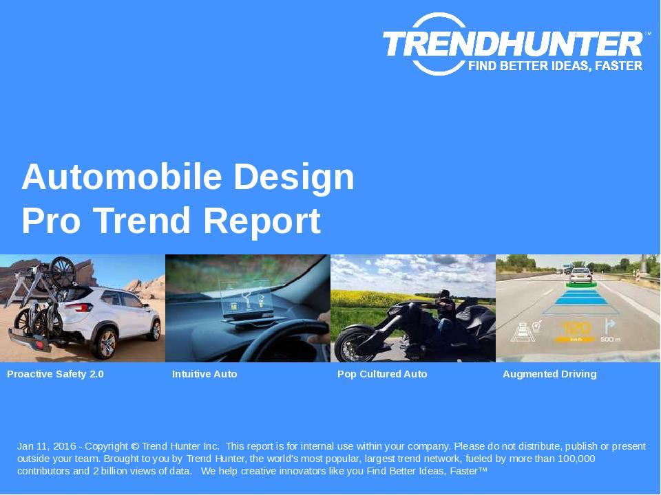 Automobile Design Trend Report Research
