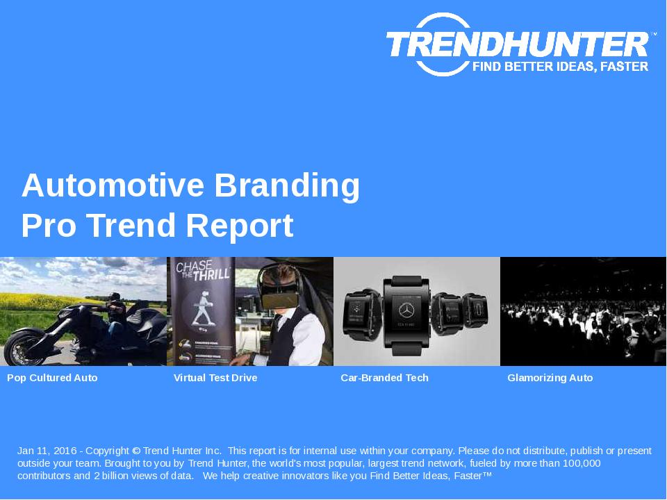 Automotive Branding Trend Report Research