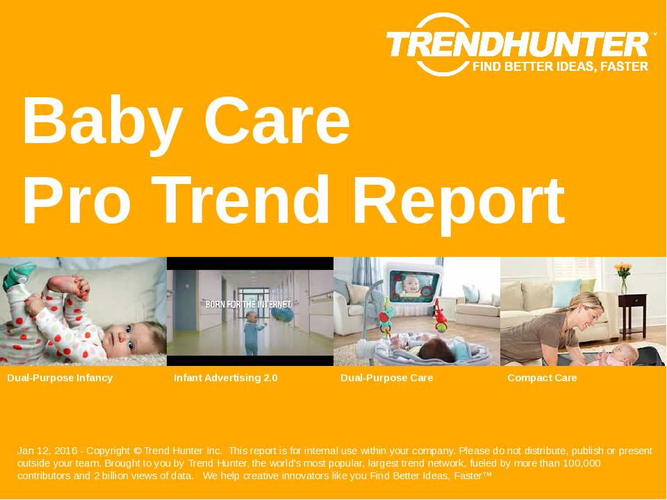 Baby Care Trend Report Research