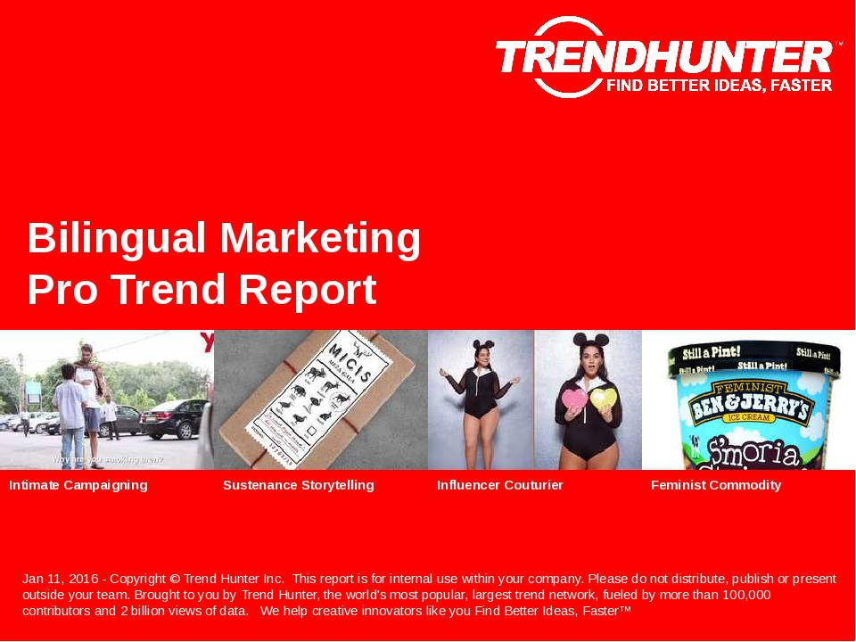 Bilingual Marketing Trend Report Research