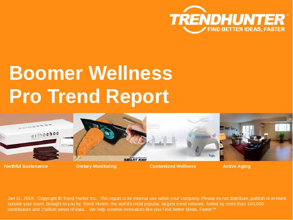 Boomer Wellness Trend Report Research