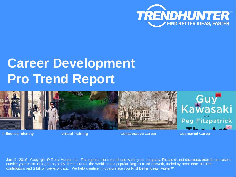 Career Development Trend Report Research