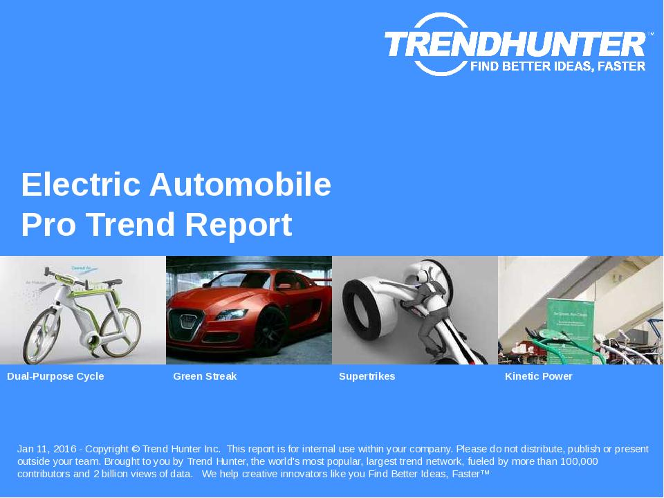 Electric Automobile Trend Report Research