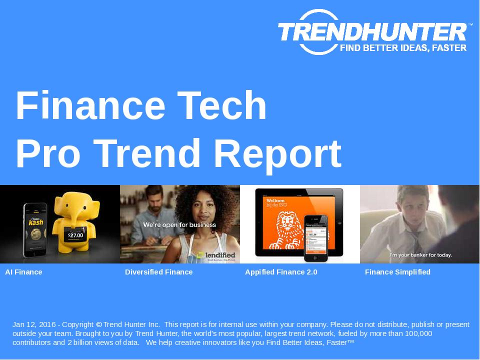 Finance Tech Trend Report Research