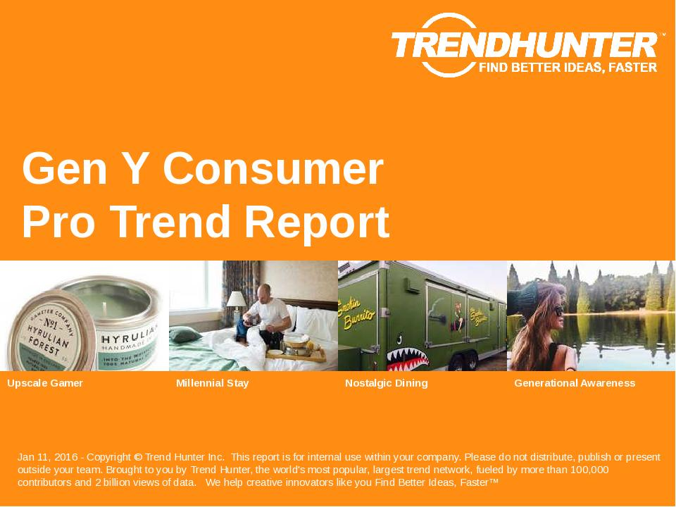 Gen Y Consumer Trend Report Research