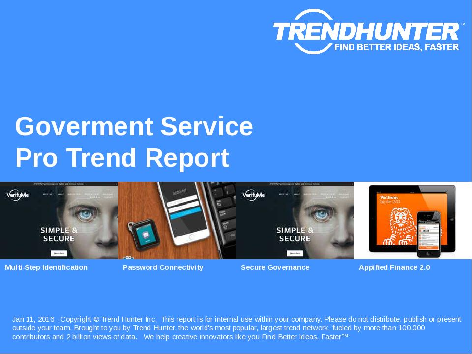Goverment Service Trend Report Research