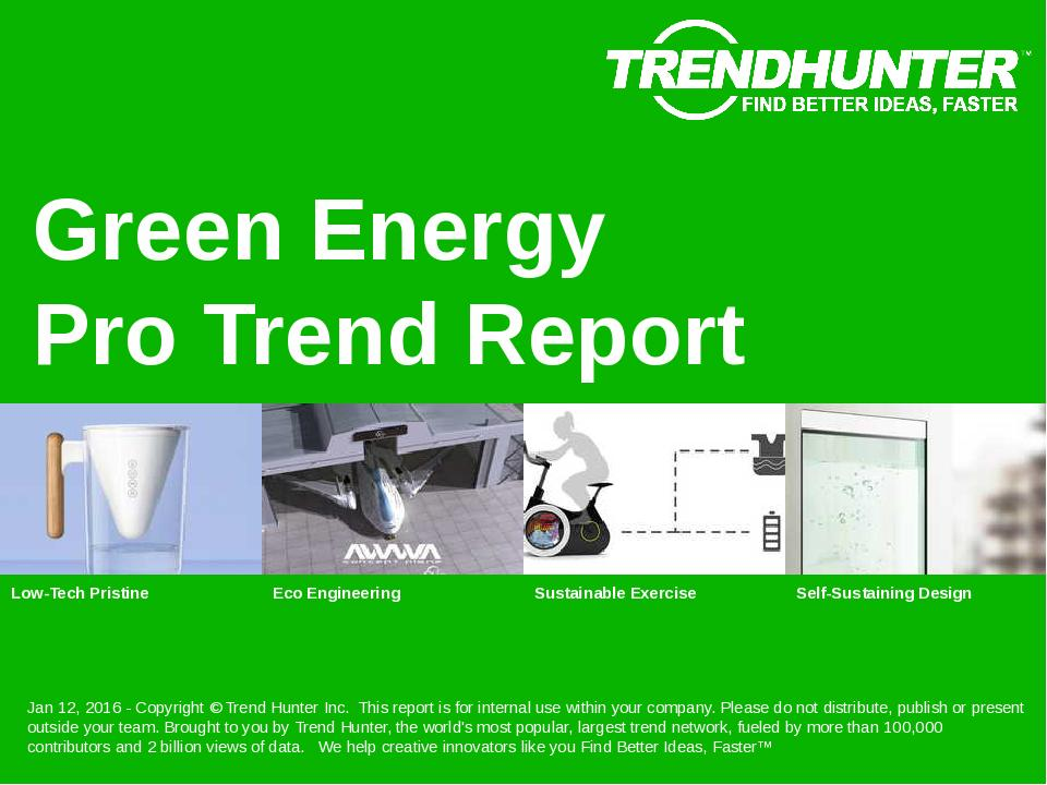 Green Energy Trend Report Research