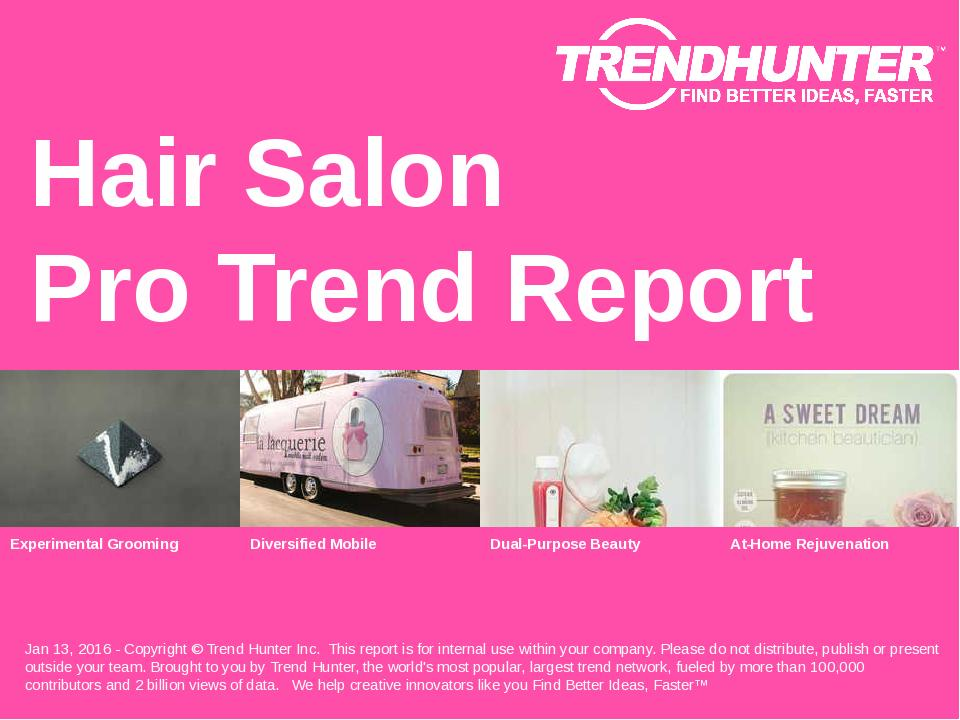 Hair Salon Trend Report Research