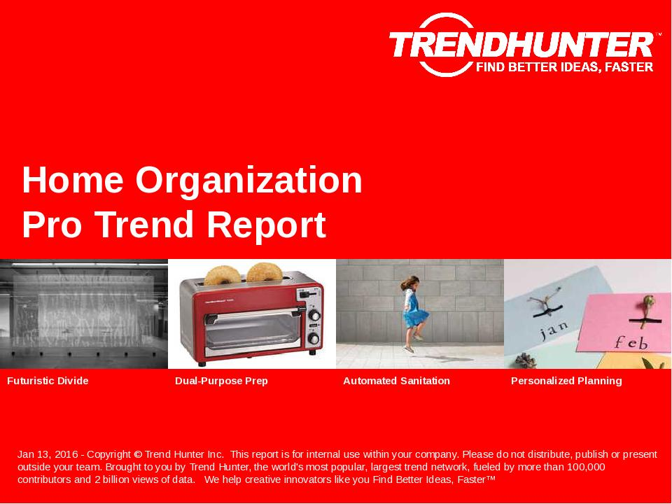 Home Organization Trend Report Research