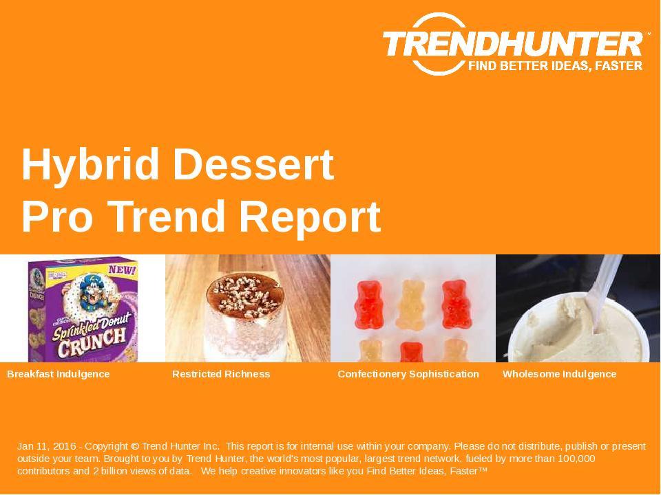 Hybrid Dessert Trend Report Research