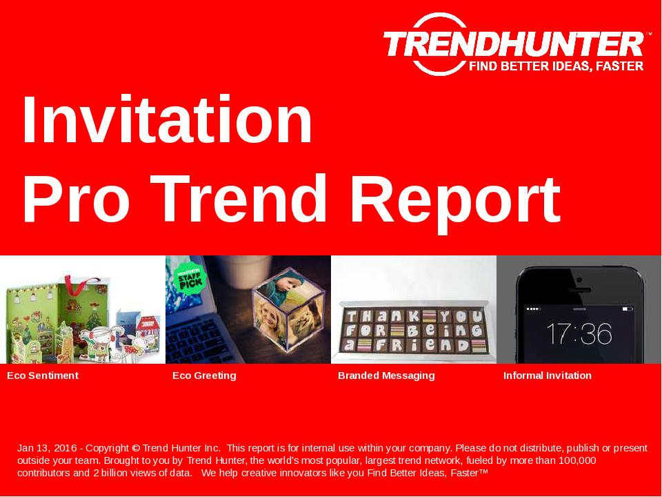 Invitation Trend Report Research