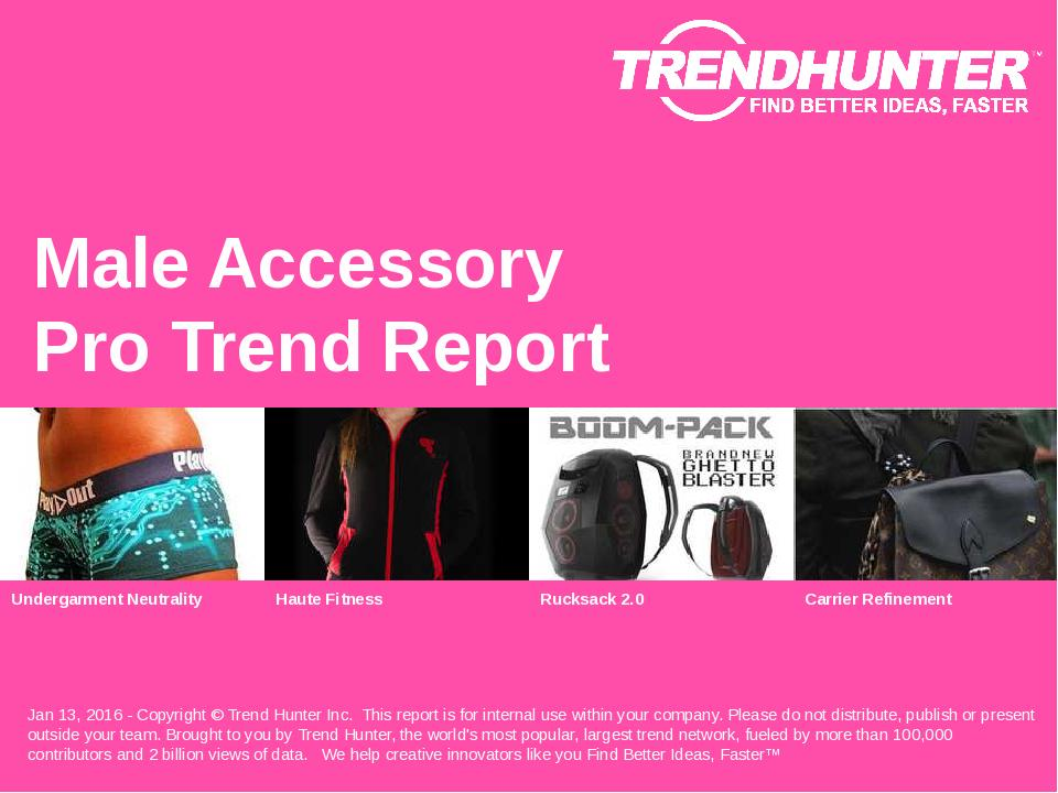 Male Accessory Trend Report Research