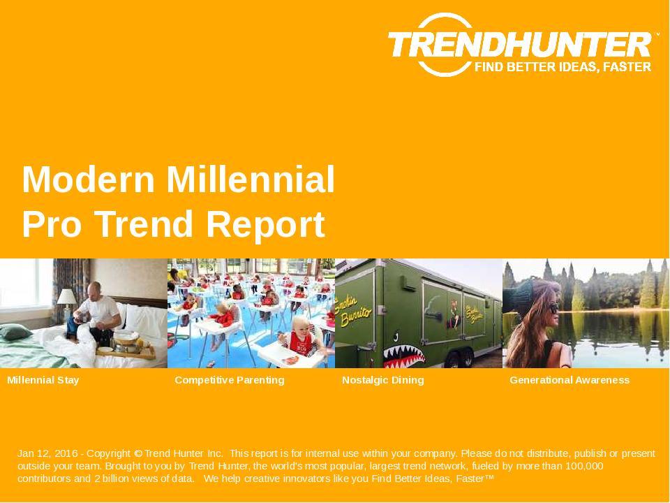 Modern Millennial Trend Report Research