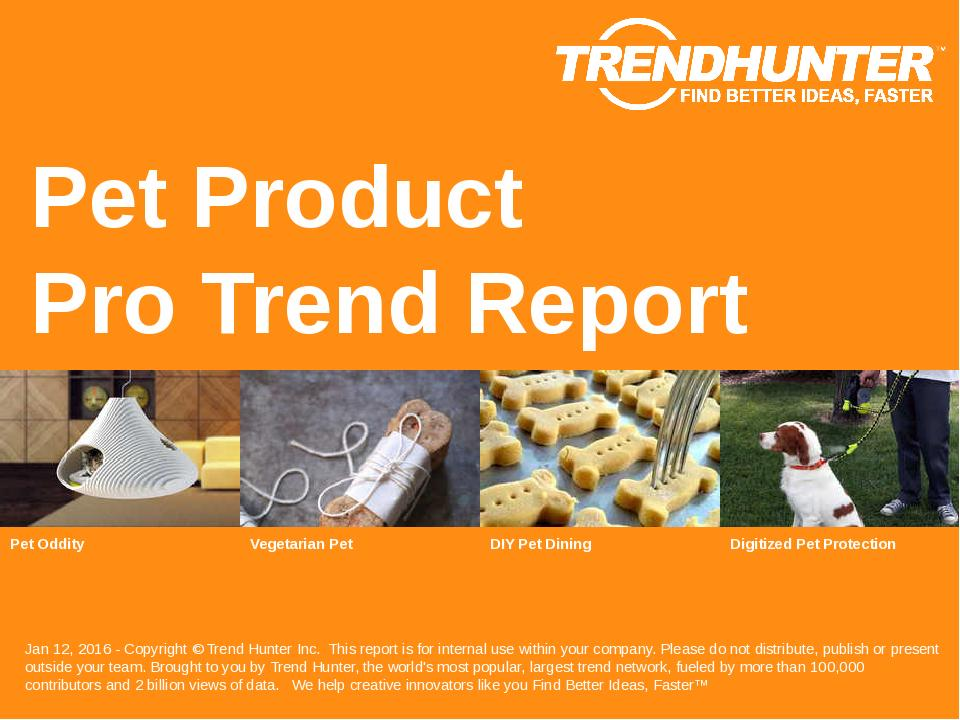 Pet Product Trend Report Research