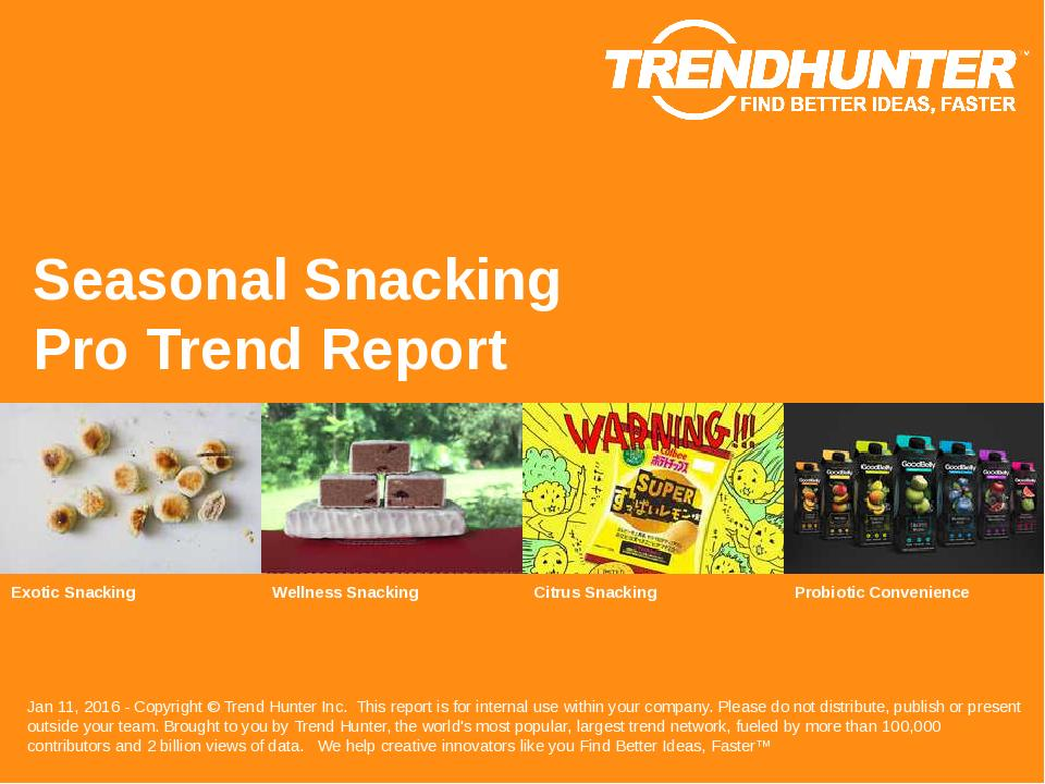 Seasonal Snacking Trend Report Research