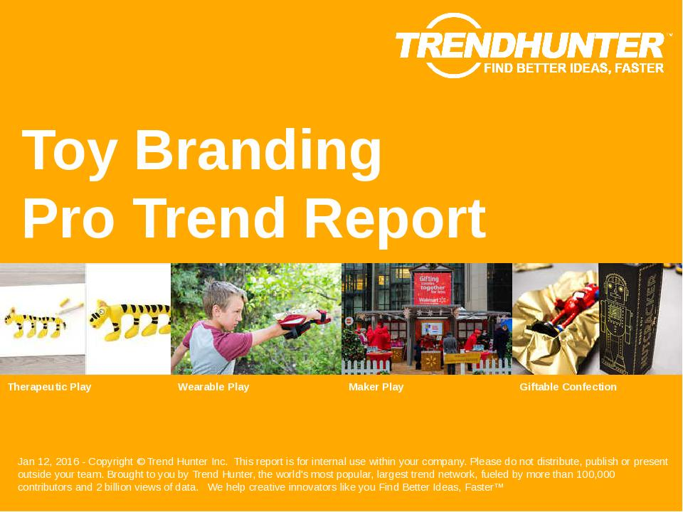 Toy Branding Trend Report Research