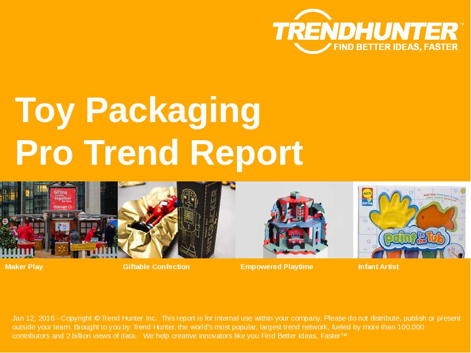 Toy Packaging Trend Report Research