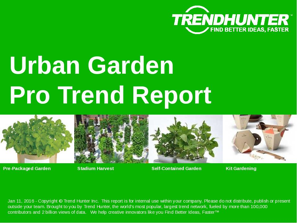 Urban Garden Trend Report Research