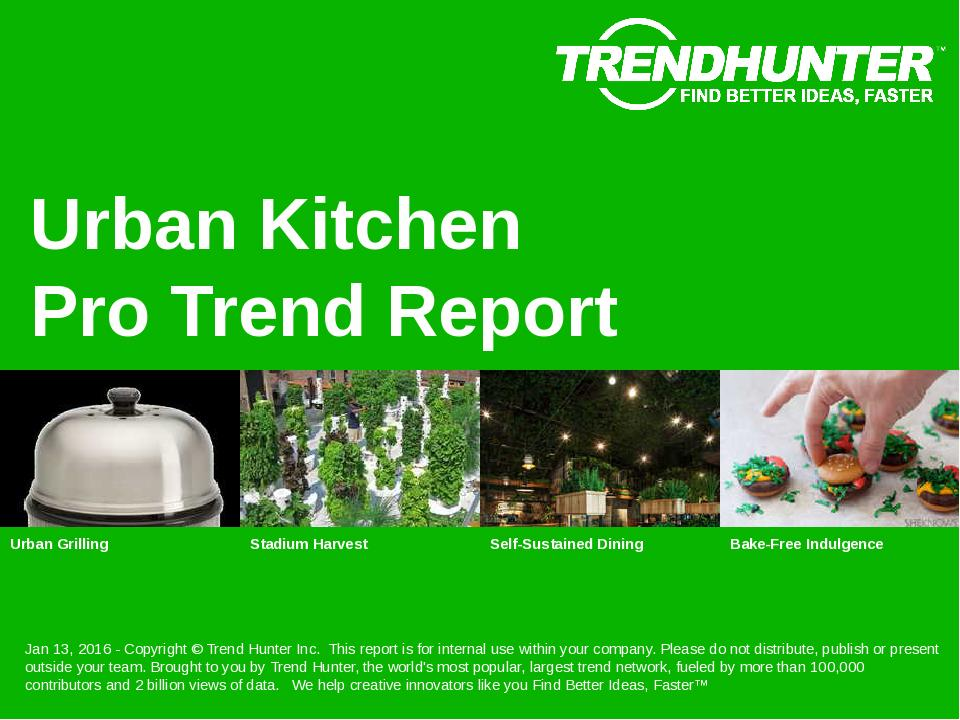 Urban Kitchen Trend Report Research